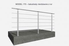 MODEL 170 – balustrady nierdzewne z rur