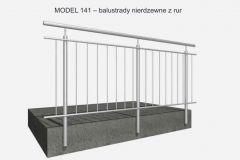 MODEL 141– balustrady nierdzewne z rur
