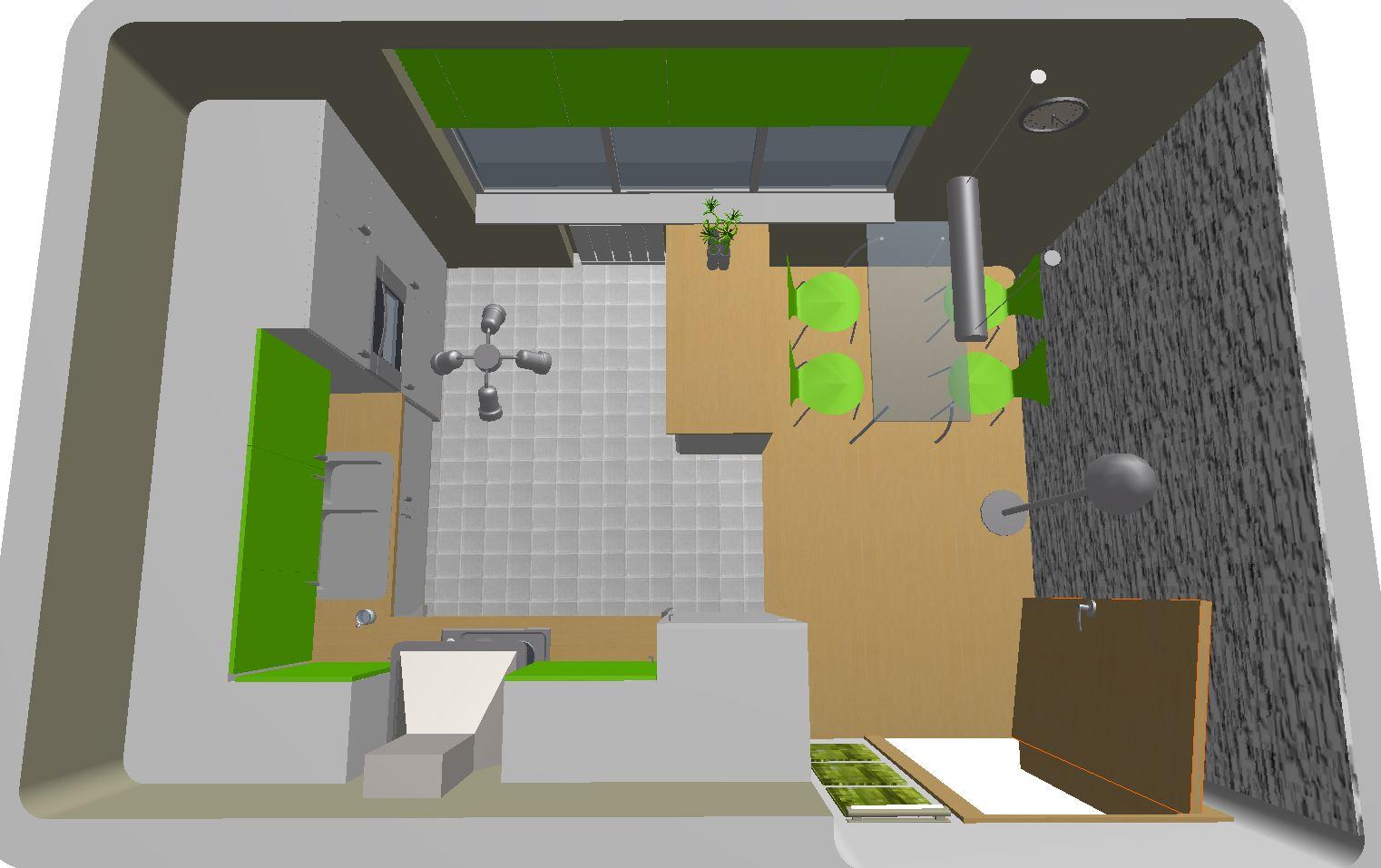 Architekt Pabianice OOO studio Architektura i Design portfolio projekt wnętrza kuchnia 1