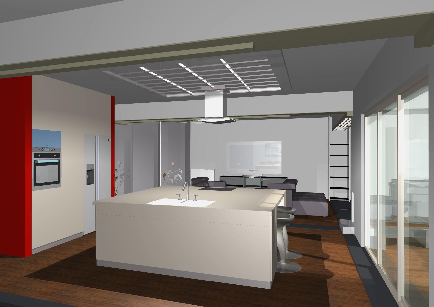 Architekt Pabianice OOO studio Architektura i Design portfolio projekt wnętrza mieszkanie kuchnia 1