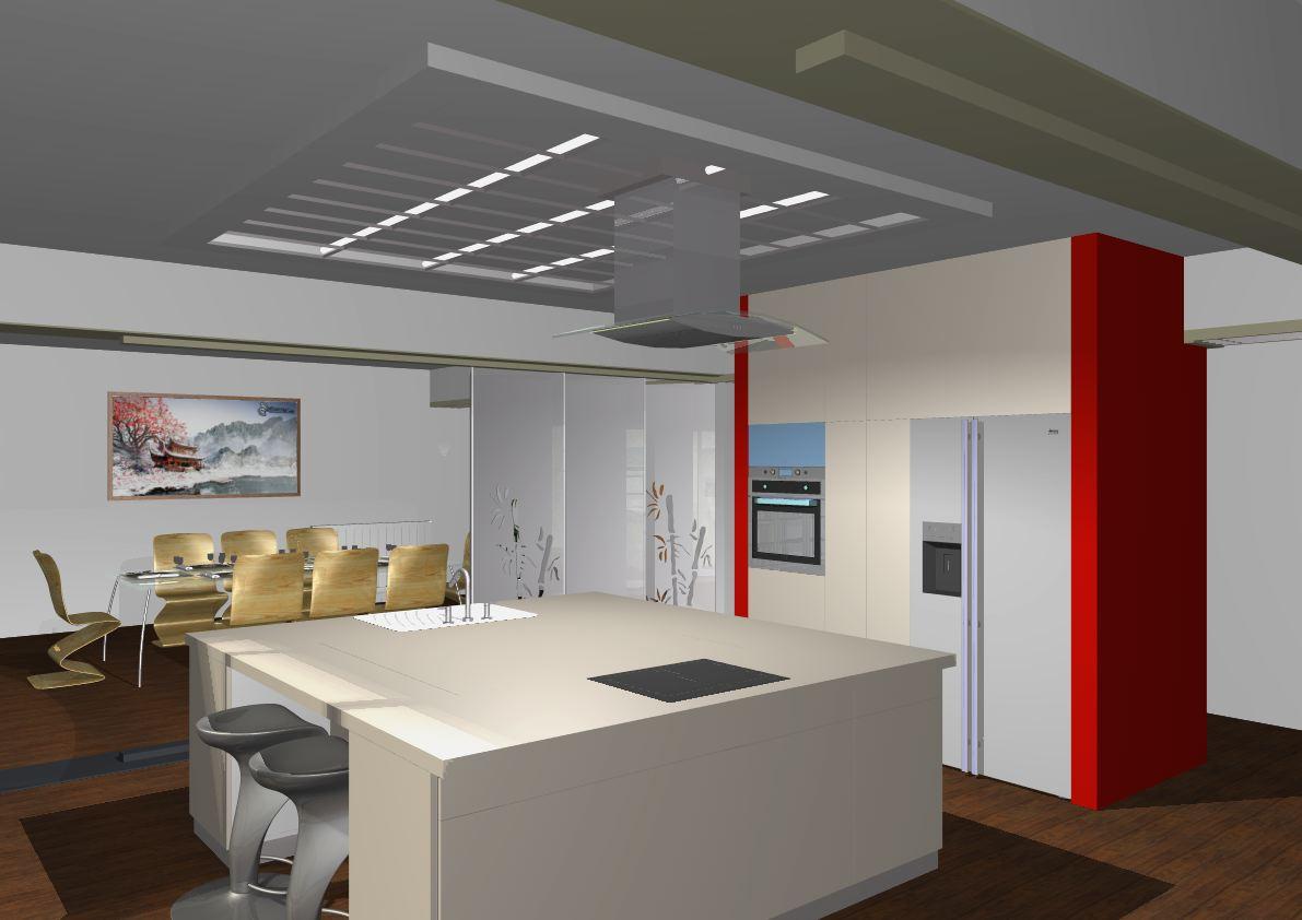 Architekt Pabianice OOO studio Architektura i Design portfolio projekt wnętrza mieszkanie kuchnia 3