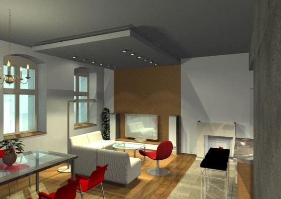 Architekt Pabianice OOO studio Architektura i Design portfolio projekt wnętrza mieszkanie 3