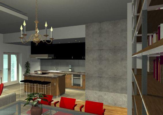 Architekt Pabianice OOO studio Architektura i Design portfolio projekt wnętrza mieszkanie 4
