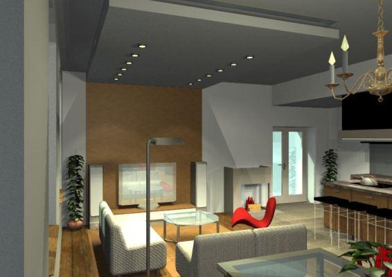 Architekt Pabianice OOO studio Architektura i Design portfolio projekt wnętrza mieszkanie 5