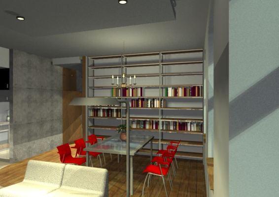 Architekt Pabianice OOO studio Architektura i Design portfolio projekt wnętrza mieszkanie 6