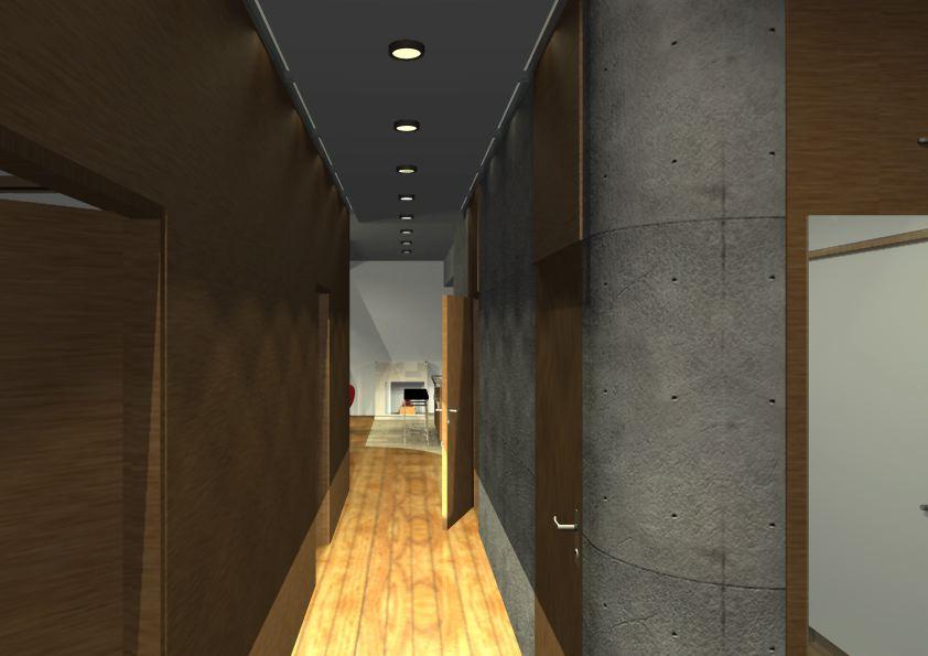 Architekt Pabianice OOO studio Architektura i Design portfolio projekt wnętrza mieszkanie 2