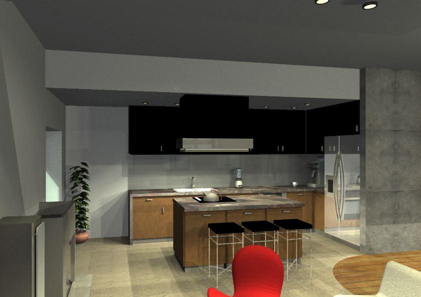 Architekt Pabianice OOO studio Architektura i Design portfolio projekt wnętrza mieszkanie 7