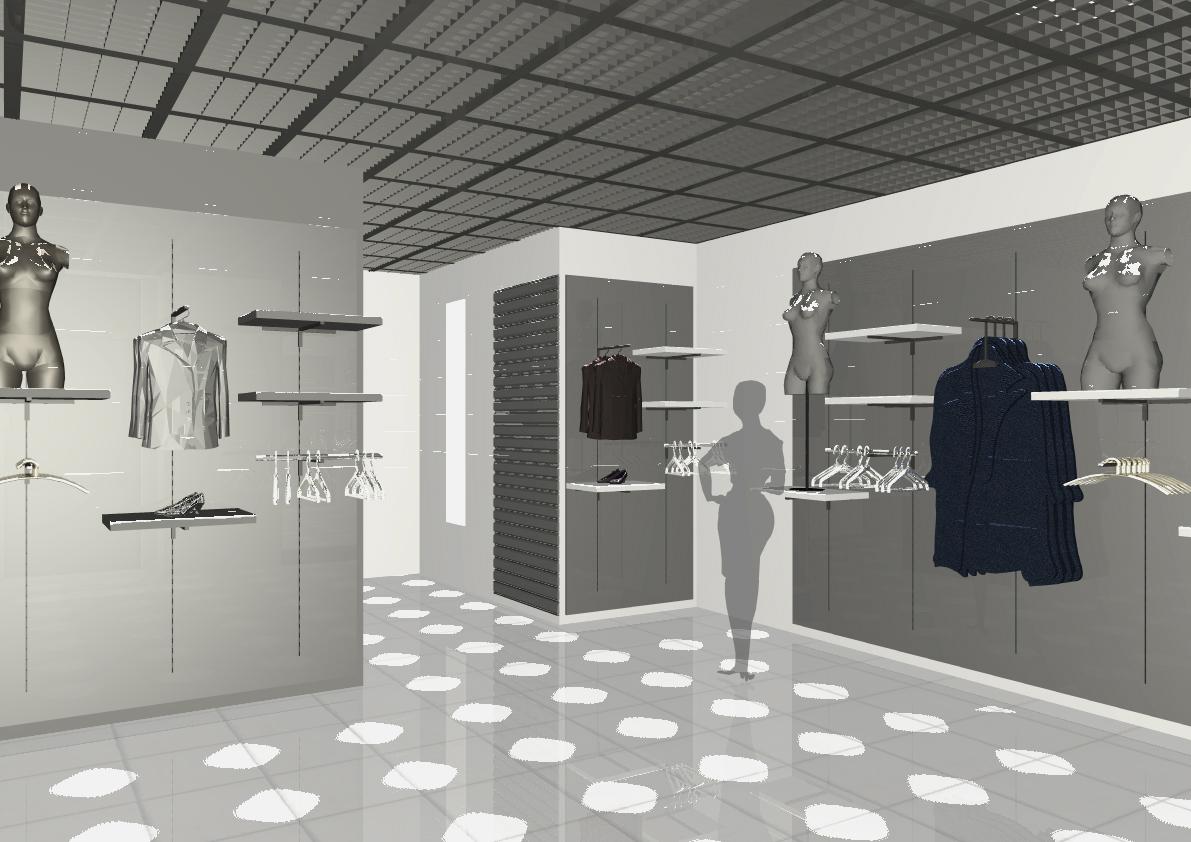 Architekt Pabianice OOO studio Architektura i Design portfolio projekt wnętrza sklep 6